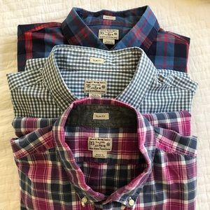 J. Crew Slim Fit 100% Cotton Shirts